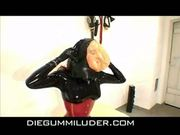 Eve in the rubber room - latex rubber fetish bizarre
