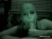 Homemade night cam blowjob