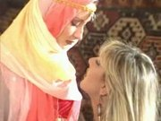 Arabian gets fingered by a horny blonde