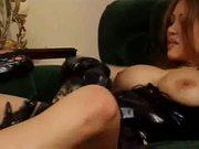 Two hot busty girls lesbian sex
