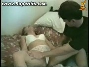 Brunette girl getting undressed and raped