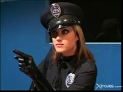 Lady Cop Gets Horny - Latex Cops