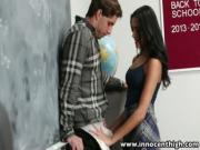 InnocentHigh Horny latina schoolgirl fucks a newcomer