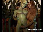 Beasts fuck 3d babes!