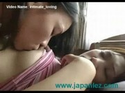Asian Lesbians Have Intimate Loving Session