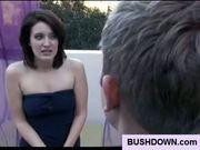 Hot babe has pussy bush