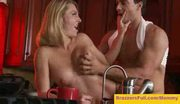 Brenda james - mom fucks in the kitchen