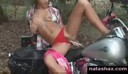 Natasha masturbation on her bike