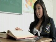 Asian school girl teen fucks her teacher after class
