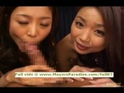 Three super sexy teen asians blowjobs