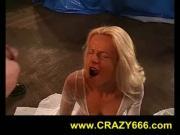 pissing on blonde girl