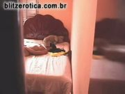 Spycam - fucking brunette on bedroom