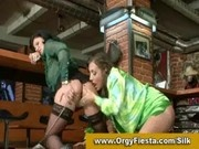 Glamorous european lesbians having fun