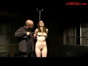 Bondaged Girl Whipped Pussy Stimulated With Vibrator Spanked With Stick By Master In The Dungeon
