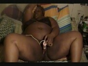 Chocolate BBW Pussy Play With Toy