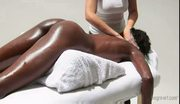 Very hot! white girl massaging black ebony princess and mast