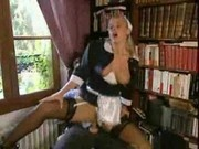 Busty french maid fucking with her boss