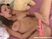 Young Cute Enjoying Herself