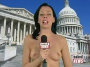 Naked News Victoria Sinclair no bra 1