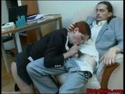 Redhead secretary fucked