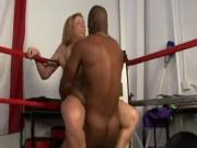 Sara Jay And BBC In A Boxing Ring