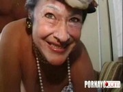 An Old Granny Takes Out Her Teeth One Last Time