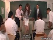 Teacher Oshi getting fired and fucked for her job