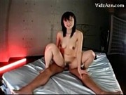 Busty Girl Giving Blowjob Getting Her Pussy Fucked On The Bed Cum To Tits