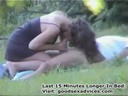 Public sex in the park - amateurs couple