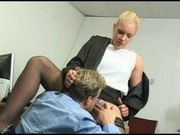 Blonde slut Heidi Mayne gets fucked in the office