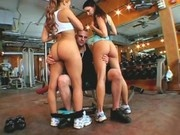 Millian Blu and Ann Marie Rios Fucked at Gym
