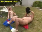 Outdoor bj for chubby guy