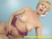 Mature Blonde Gets Her Pussy Abused