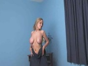 Brittany - busty towel dance