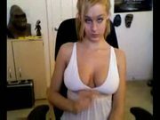 Big natural boobs webcam flash and tease