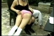 Pale teens bareass spanking