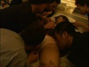 Drunk Teengirl forced into Gangbang Part 1