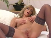 Masturbation in thigh highs