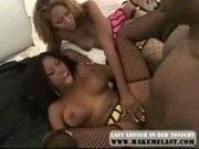 Michelle Tucker threesome ebony fuck