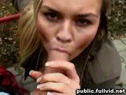 Blonde in public