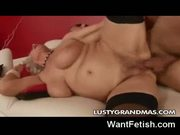 Hard sex with a grandma!