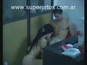 Sexo en la oficina-porno argentino