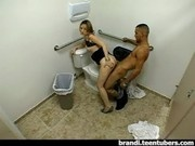 Amateur Teens Caught Fucking in Bathroom