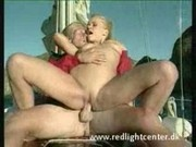 blond baywatch babe with small tits and shaved pussy fucked on a boat