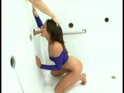 Torri Black - Sucks Huge White Cock at the GloryHole