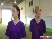 Lovely and super sexy teens on Football