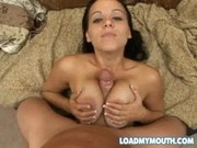 Natasha Nice loads her mouth and swallows