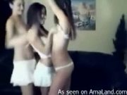 3 teen gfs stripping together!