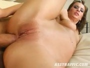 Carmen takes his hard Cock straight to her tight Ass - Ass Traffic