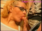 Mature woman fucking a young guy